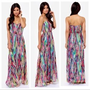 Jack by BB Dakota Rayna maxi colorful dress
